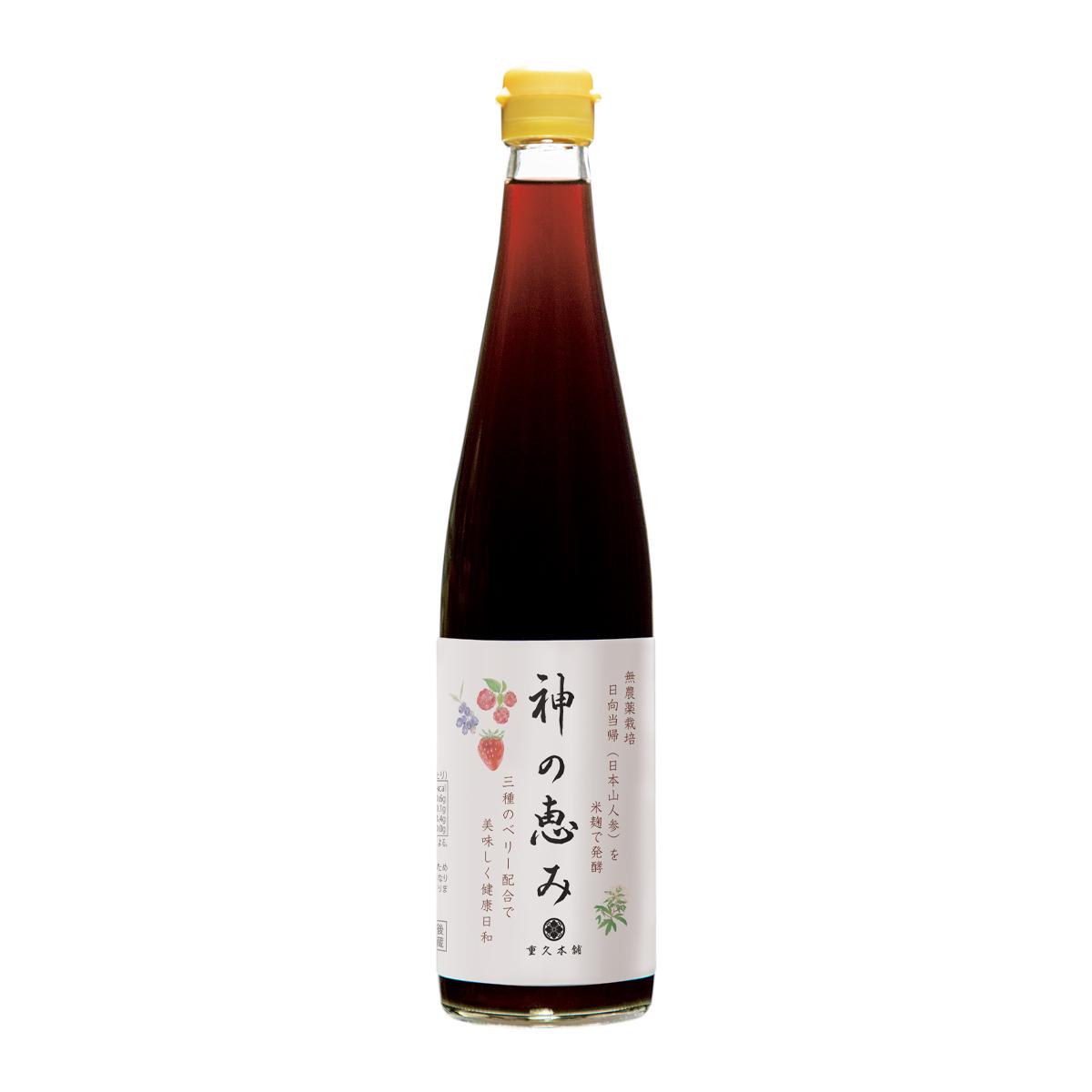 新商品のご案内【『神草果実酢(神の恵み)』500ml】