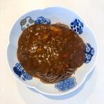 りんご酢、りんご黒酢レシピ『カレーそば』