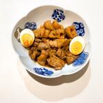 黒酢レシピ『ジューシー鶏肉とさくさくレンコンの煮物』150手軽で簡単レシピ、黒酢を使った料理、重久盛一酢醸造場、重久本舗