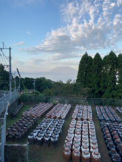 20211001『朝露に濡れる黒酢畑』健康、美容、免疫力アップには黒酢が一番、重久本舗、重久盛一酢醸造場