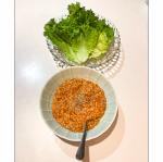 旨だし酢極(かつお節発酵酢)レシピ『トリプル発酵食品ウマい、キムチ納豆』